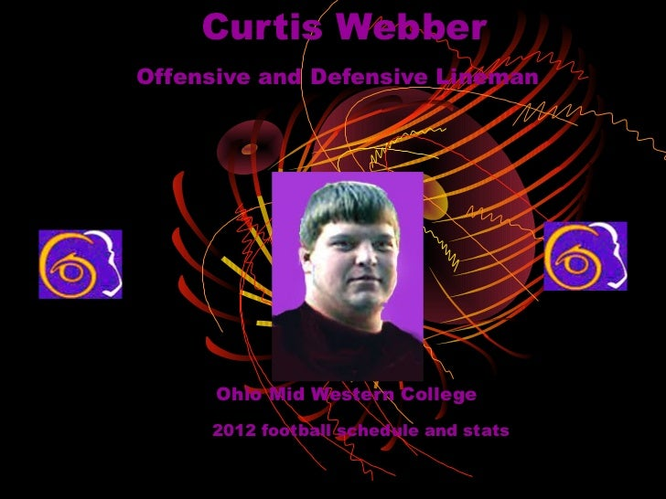Curtis WebberOffensive and Defensive Lineman      Ohio Mid Western College     2012 football schedule and stats
