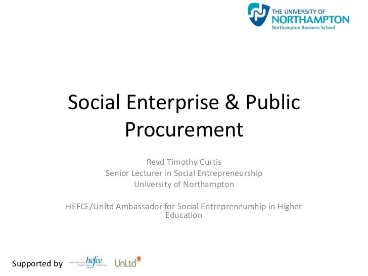 Social Enterprise & Public Procurement