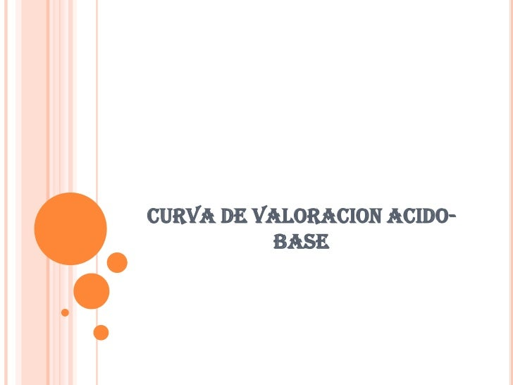 CURVA DE VALORACION ACIDO-BASE<br />