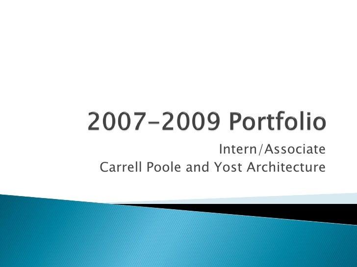 2007-2009 Portfolio