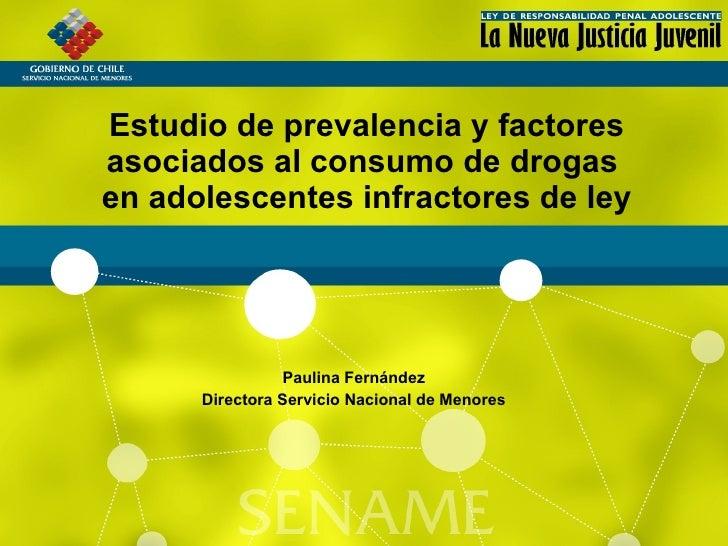 Estudio de prevalencia y factores asociados al consumo de drogas en adolescentes infractores de ley                     Pa...