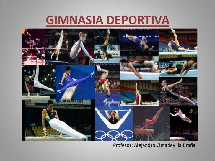 Gimnasia deportiva for Deportes de gimnasia