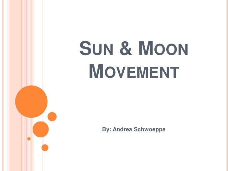 Sun & Moon Movement<br />By: Andrea Schwoeppe<br />