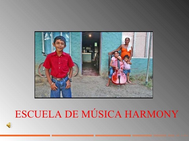ESCUELA DE MÚSICA HARMONY