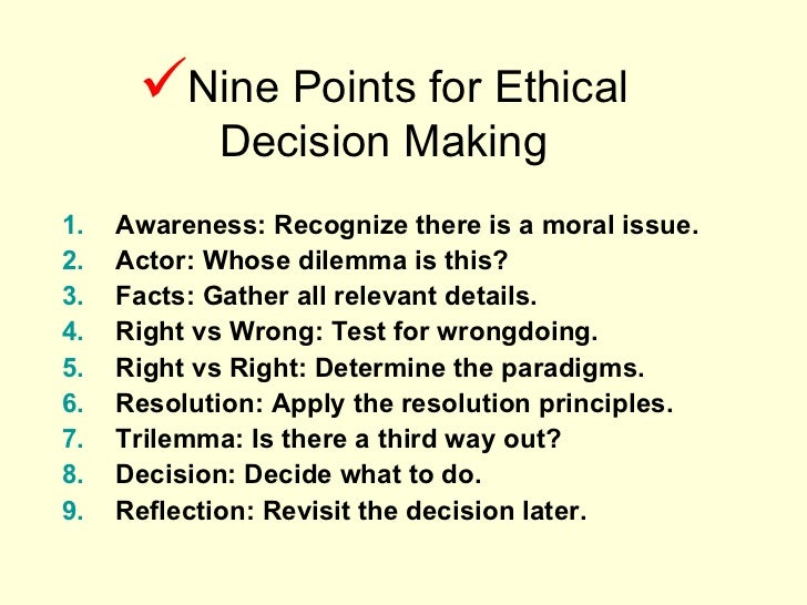 ethical decision making 6 essay Using an ethical decision-making model to determine consequences for student plagiarism i describe my experience with plagiarism of ethics papers during students.