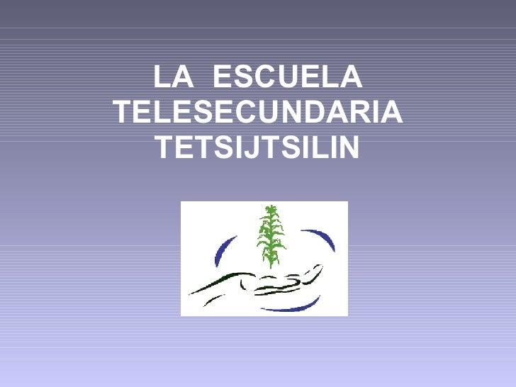 LA  ESCUELA TELESECUNDARIA TETSIJTSILIN