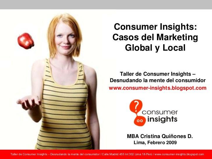 Consumer Insights:                                                                           Casos del Marketing          ...