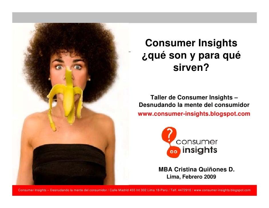 Consumer Insights                                                                               ¿qué son y para qué       ...
