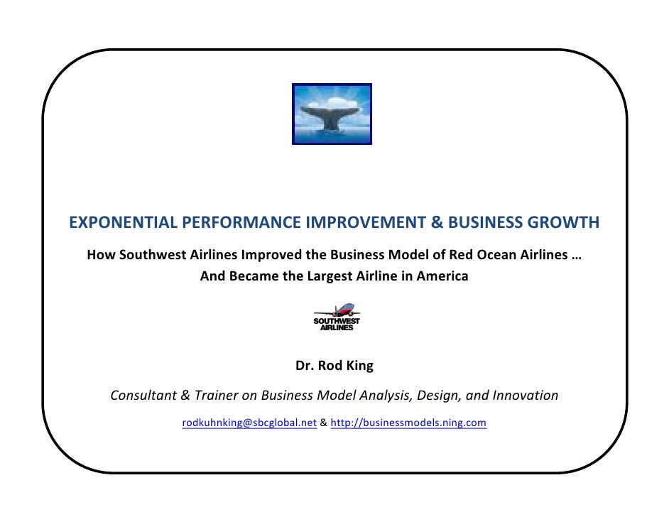 Blue Ocean Compass for Southwest Airlines: How Southwest Airlines Improved the Business Model of Red Ocean Airlines ... And Became the Largest Airline in America