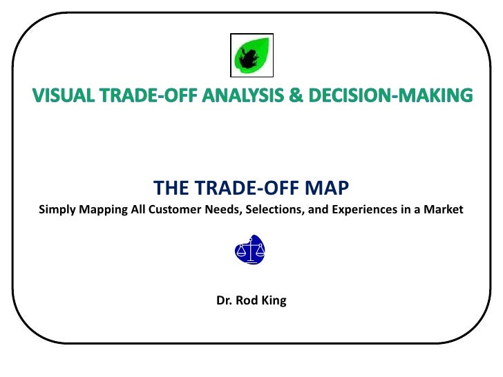 THE TRADE-OFF MAP: Simply Mapping All Customer Needs, Selections, and Experiences in a Market