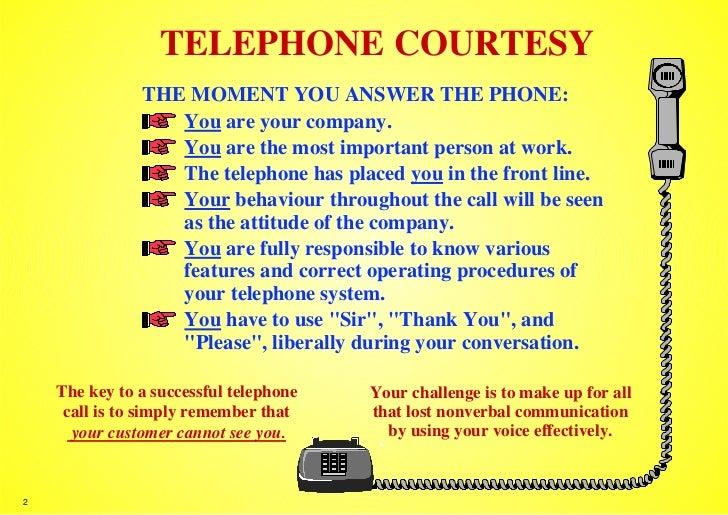 Telephone Courtesy Guidelines