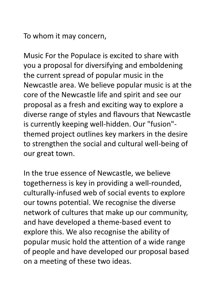 To whom it may concern,Music For the Populace is excited to share with you a proposal for diversifying and emboldening the...