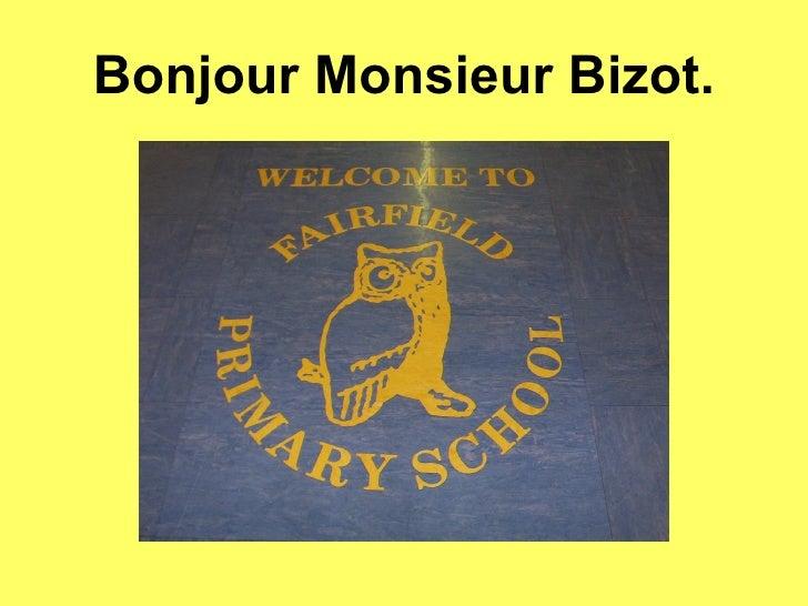 Bonjour Monsieur Bizot.