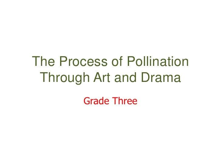 The Process of Pollination  Through Art and Drama         Grade Three