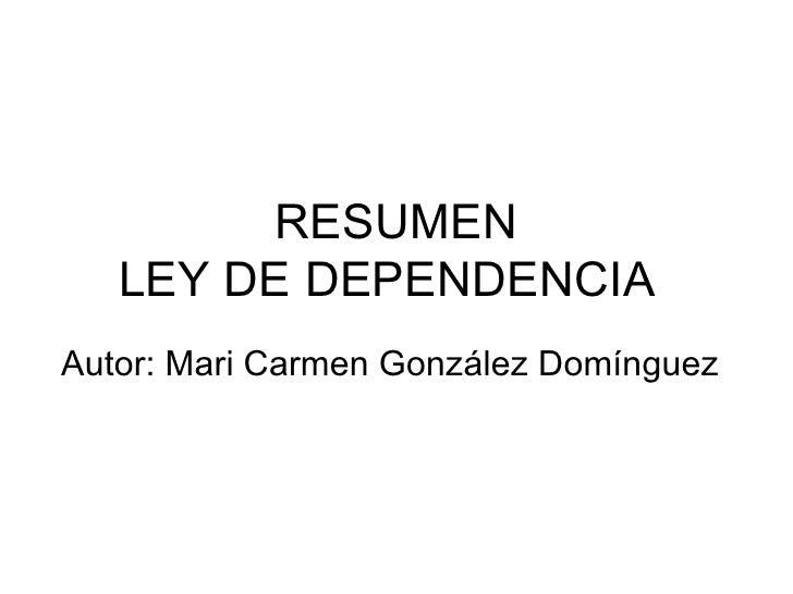 Presentación Ley dependencia