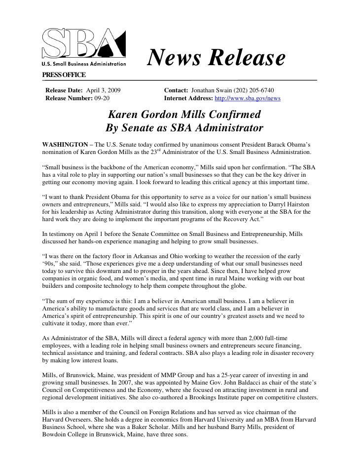 News Release PRESS OFFICE   Release Date: April 3, 2009                    Contact: Jonathan Swain (202) 205-6740  Release...