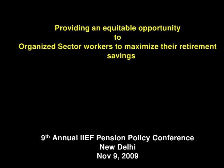 IIEF Occupational Pensions Nov 2009