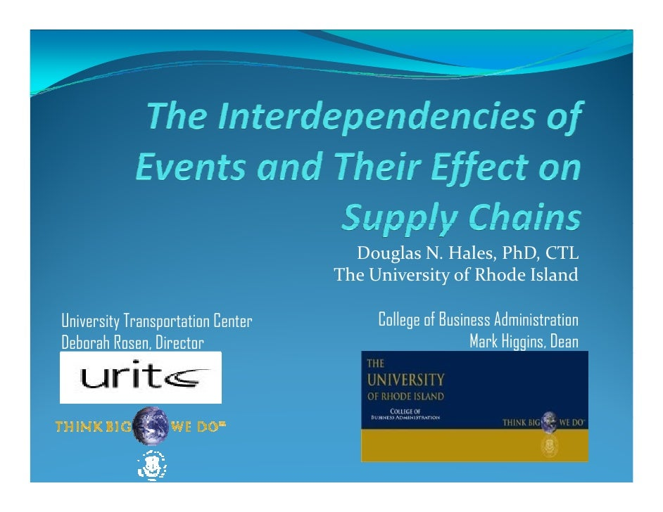 The Interdependencies of Events and Their Effect on Supply Chains
