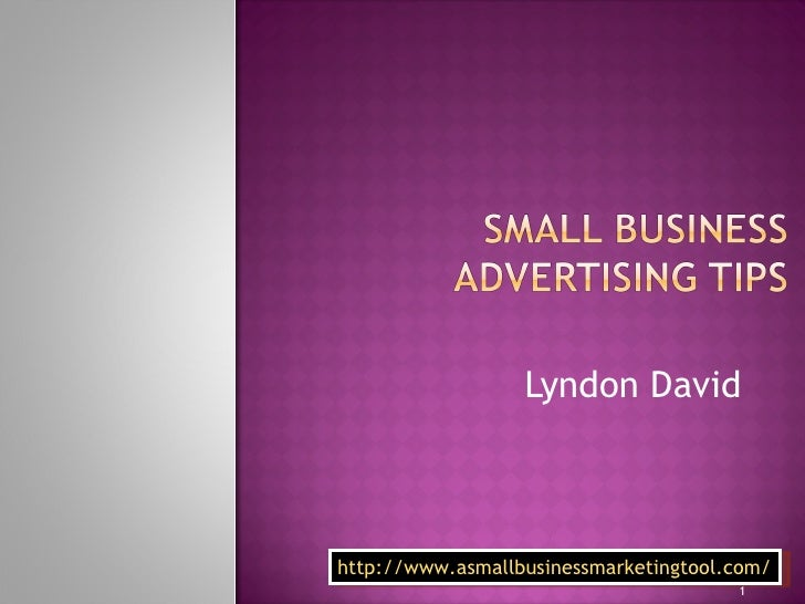 Small Business advertising tips