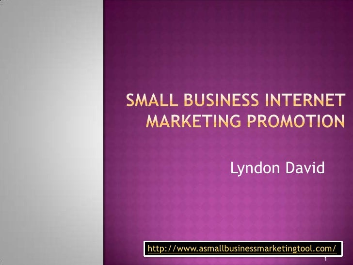 Small business internet marketing promotion