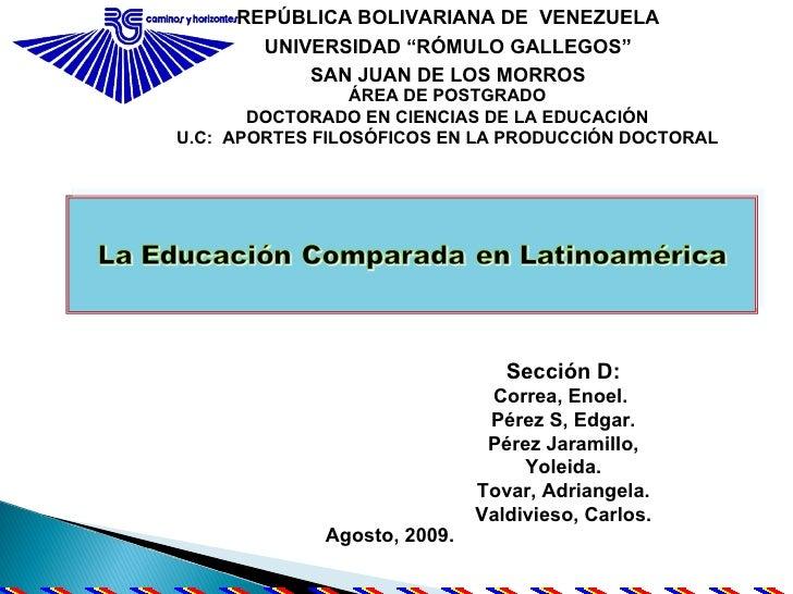 EDUCACION COMPARADA
