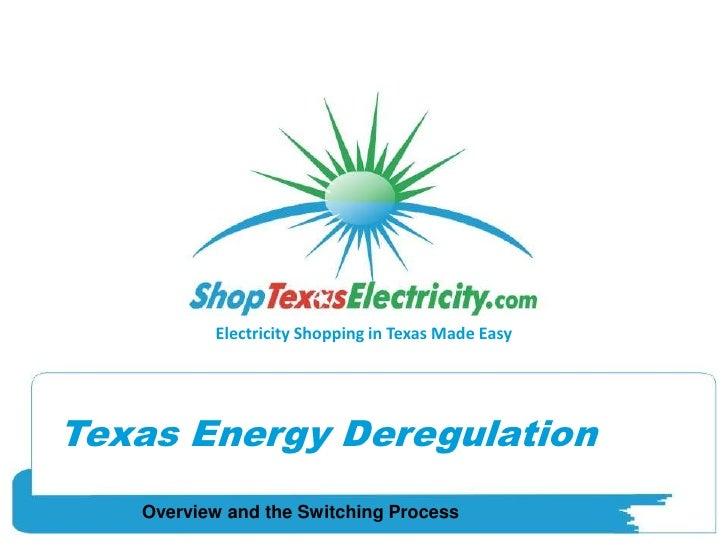 Texas Electricity Deregulation