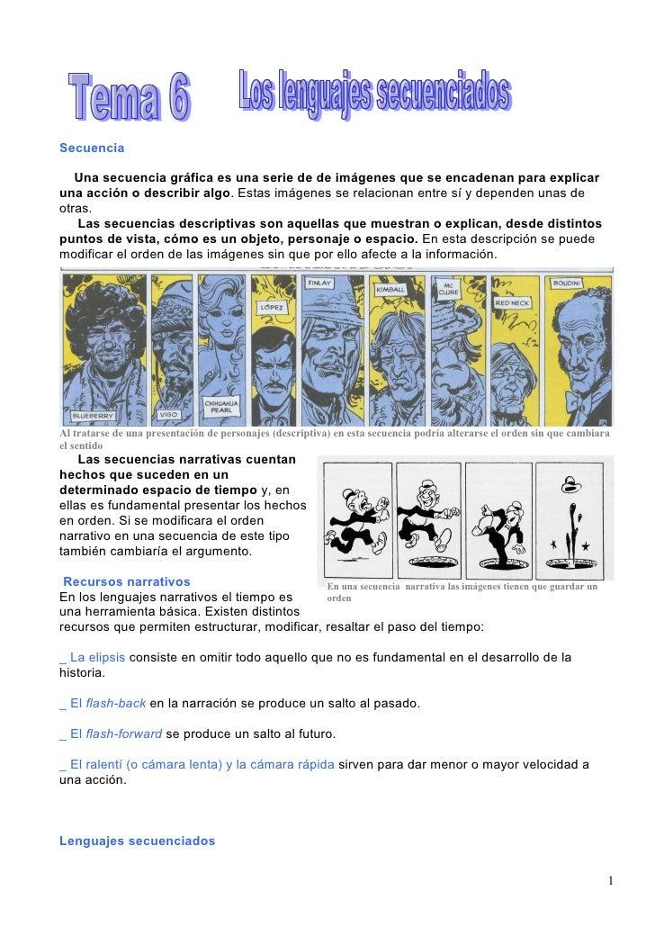 Secuencia     Una secuencia gráfica es una serie de de imágenes que se encadenan para explicar una acción o describir algo...