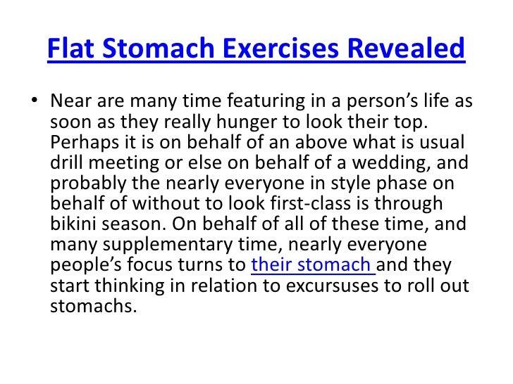 Flat Stomach Exercises Revealed