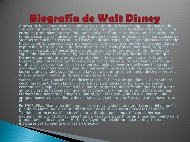 A pesar de los esfuerzos de sus biógrafos, un fondo de leyenda sigue aún planeando sobre la figura de Walt Disney. Un repe...