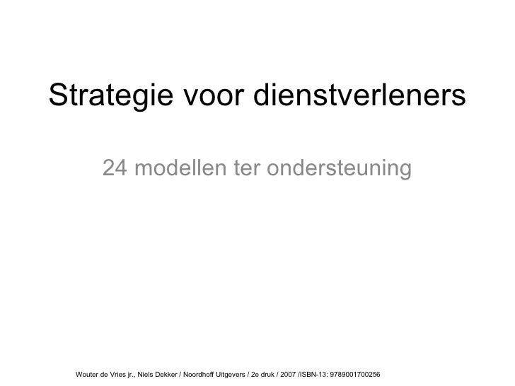 Strategie voor dienstverleners | 24 modellen ter ondersteuning