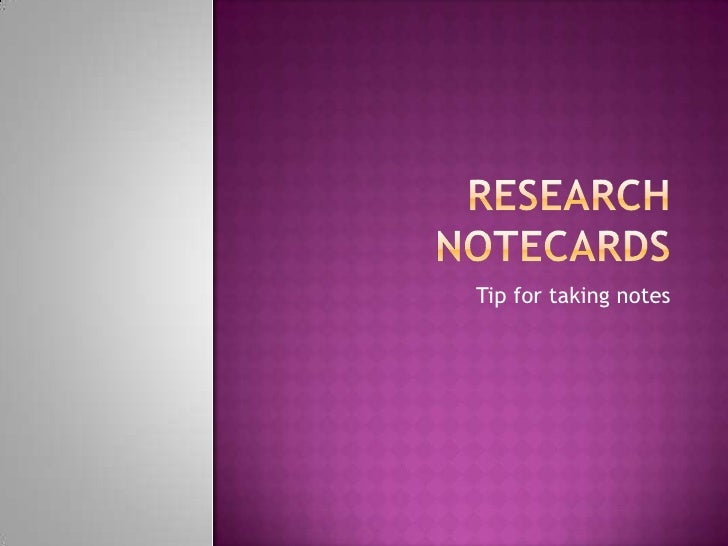 using note cards in a research paper The index card system uses index cards for recording facts, and then organizes   in high school, one of my teachers taught me a method for using index cards in  the research  outline that the students can draw from when writing their paper.