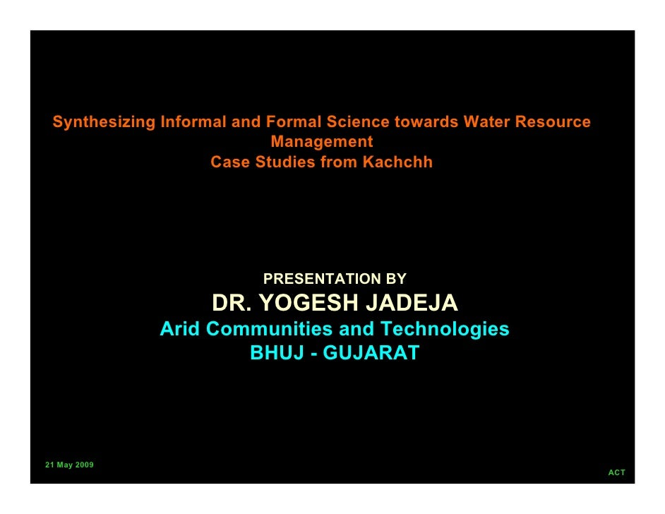 Synthesizing Informal and Formal Science towards Water Resource                            Management                     ...