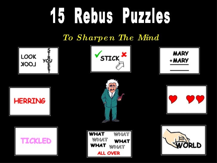 15  Rebus  Puzzles To Sharpen The Mind