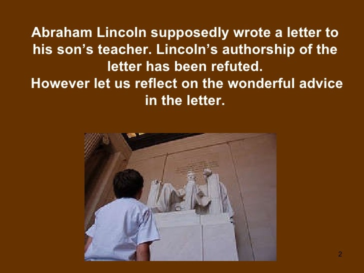 A Letter From Abraham Lincoln To His Son's Teacher