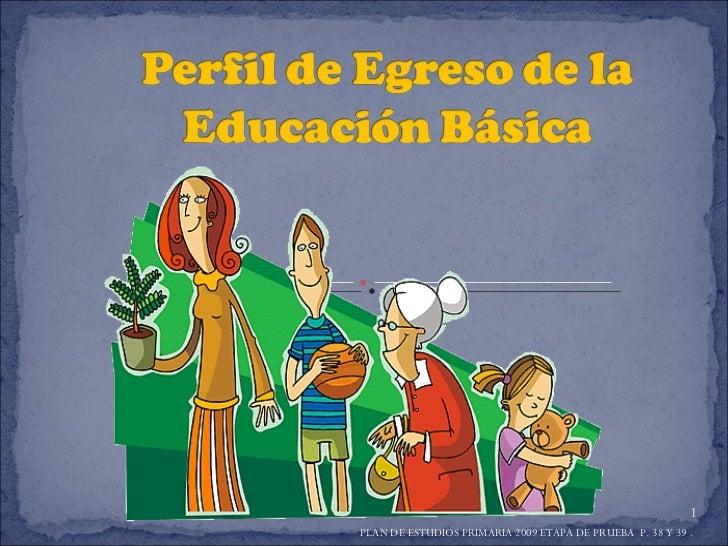 PLAN DE ESTUDIOS PRIMARIA 2009 ETAPA DE PRUEBA  P. 38 Y 39 .