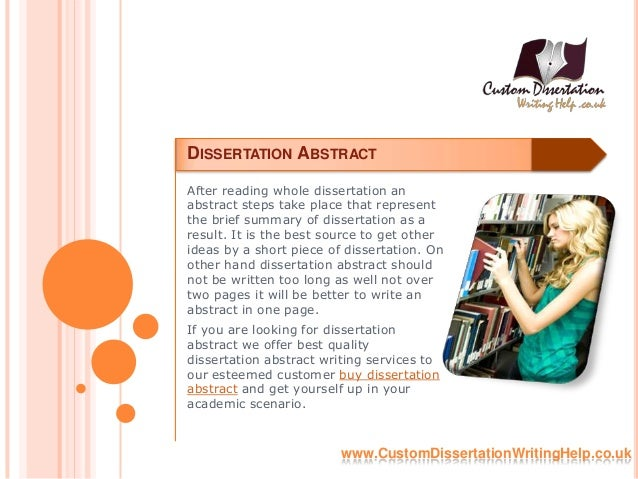 Dissertation abstracts online to write
