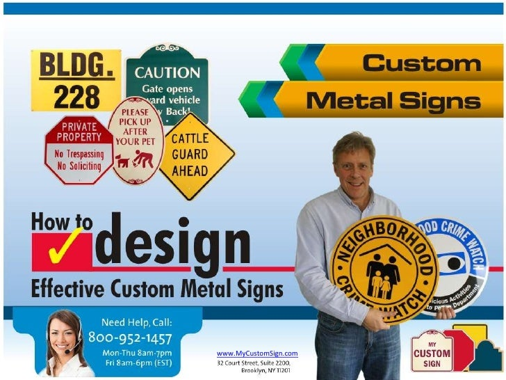 Design Custom Metal Signs - Tips by MyCustomSign.com (Part 1)