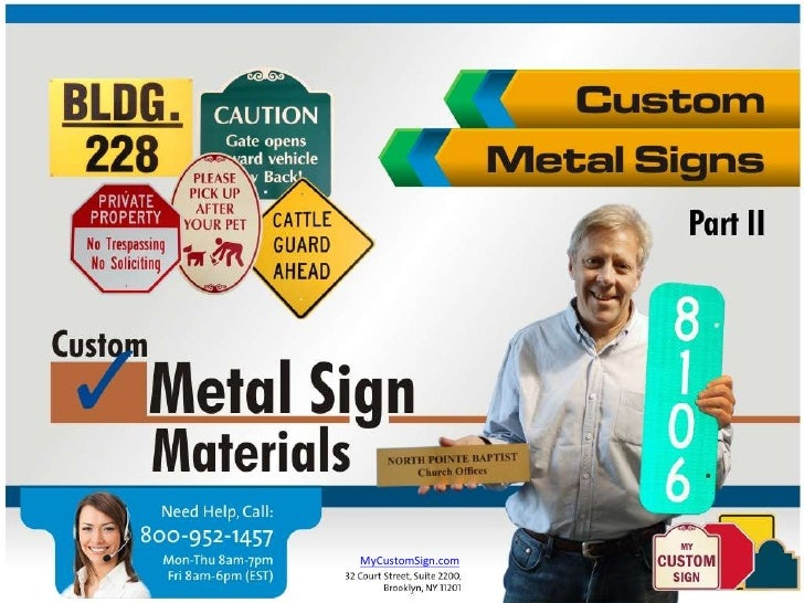 Designing Custom Metal Signs - Material Choices (Part 2)