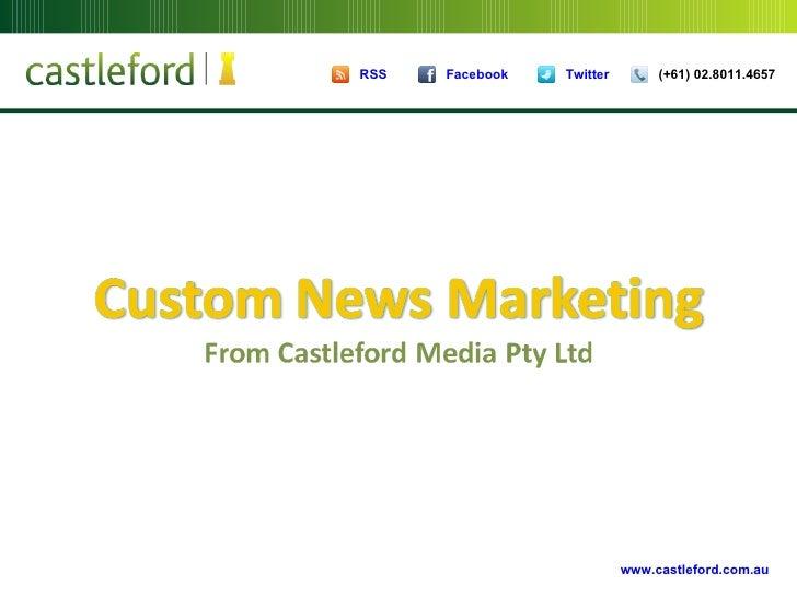 Custom News Marketing