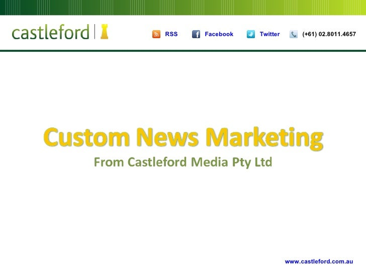 Custom News Marketing
