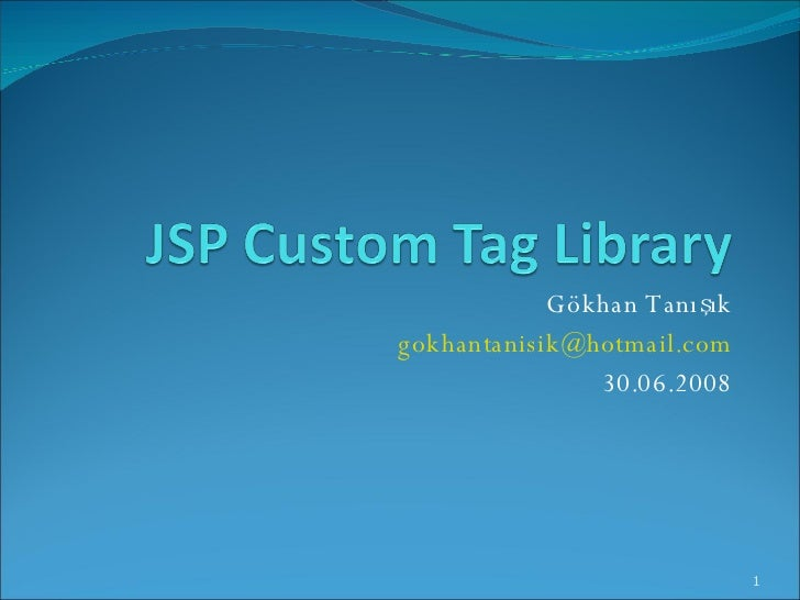 JSP Custom Tag Library