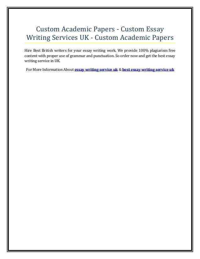 My Custom Writing Essay - Paper Service Online