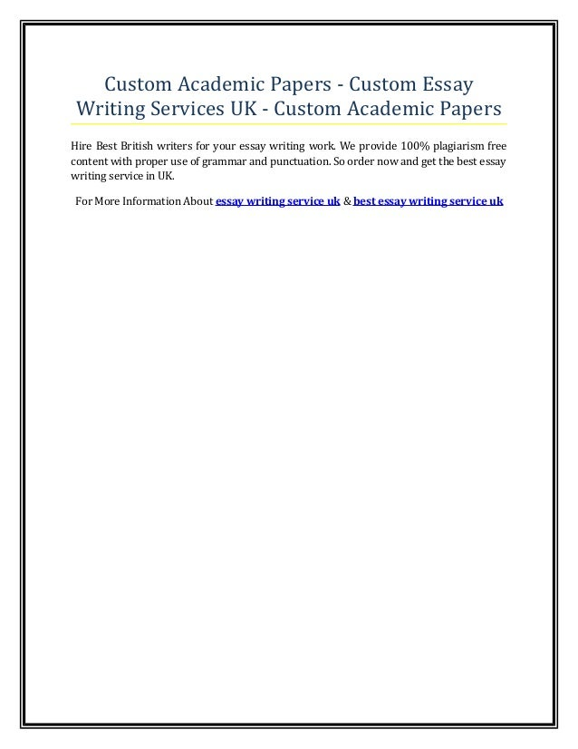 Academic custom essays