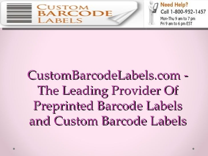 CustomBarcodeLabels.com - The Leading Provider Of Preprinted Barcode Labels and Custom Barcode Labels