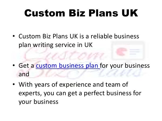 Order custom business plan