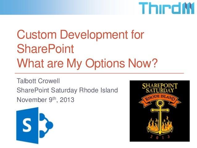 Custom Development for SharePoint