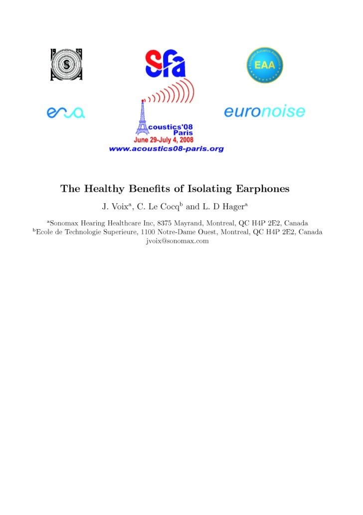 With the ubiquitous presence of Personal Stereo Systems (PSSs), namely iPods R and the like, many      hearing conservatio...