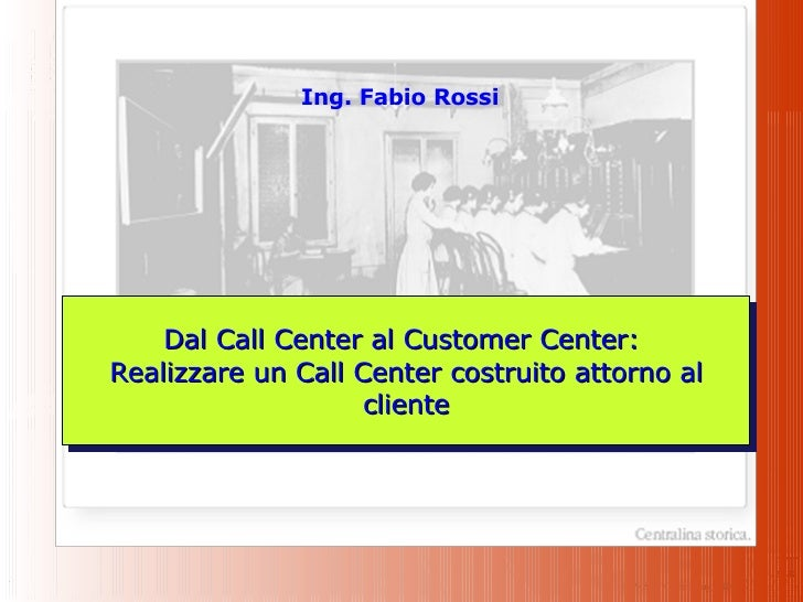 Customer Center Demo