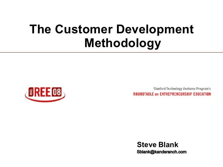 Customer Development Methodology