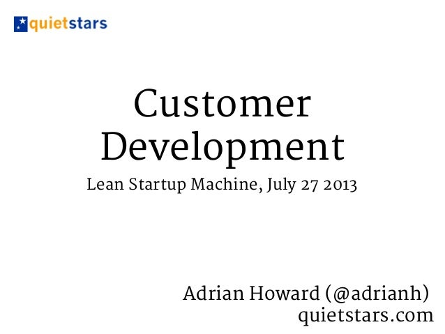 Introduction to Customer Development Interviewing